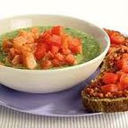 Courgettesoep met bruschetta!