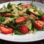 Aardbei-rucola-munt Salade